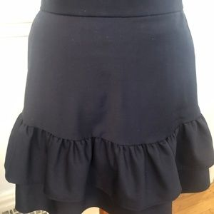 EUC - J Crew Navy Blue Skirt size 4P